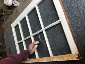 Old Wooden Single Pane Window